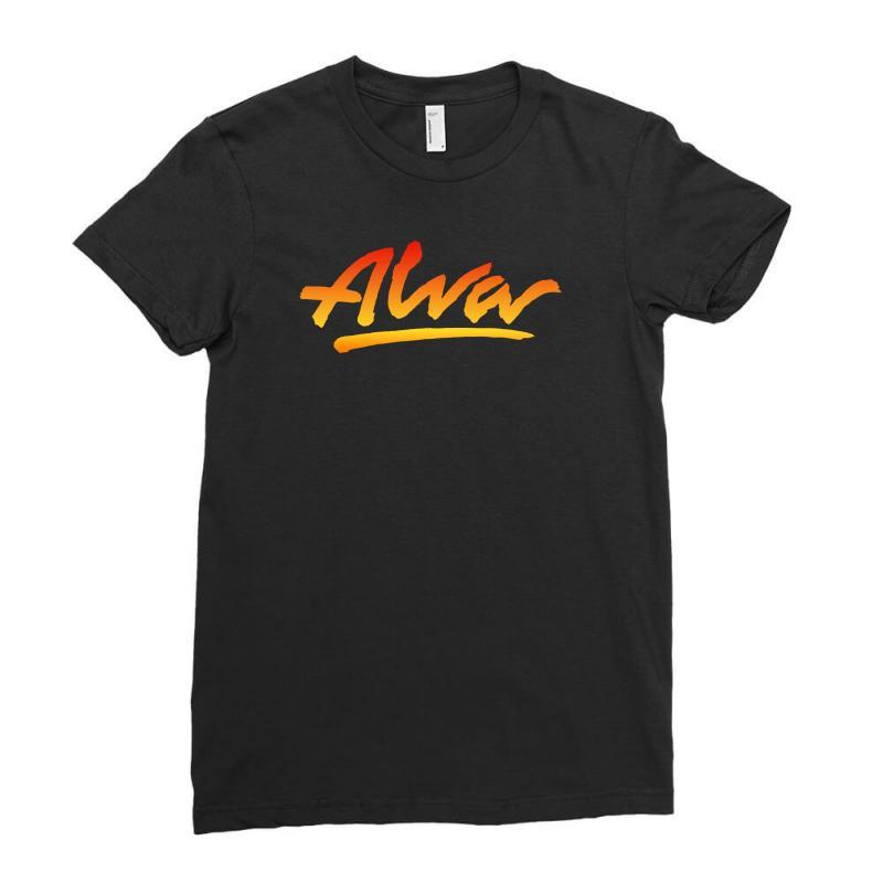 New Alva Skateboard Skate Decks Logo Ladies Fitted T-shirt   Artistshot