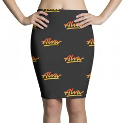 new alva skateboard skate decks logo Pencil Skirts | Artistshot