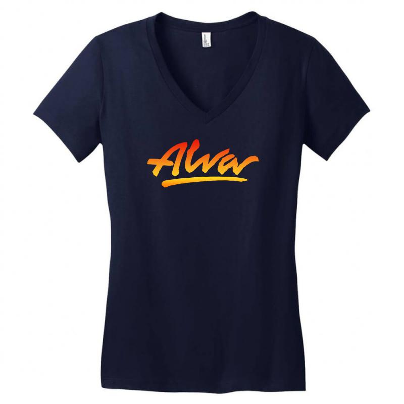 New Alva Skateboard Skate Decks Logo Women's V-neck T-shirt | Artistshot