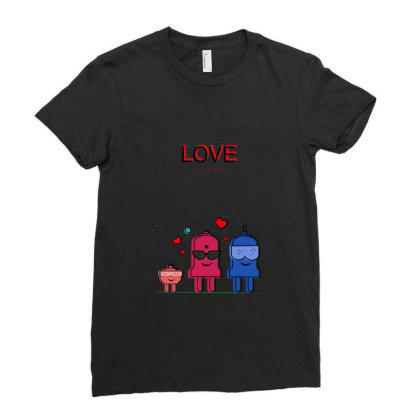 Love Do It With Ladies Fitted T-shirt Designed By Artwitharvind