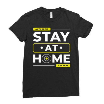 Stay At Home 1 Ladies Fitted T-shirt Designed By Dulart