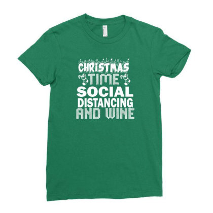Social Distancing Time Ladies Fitted T-shirt Designed By Juna Wiliam