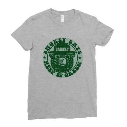 Smokey Keep It Green Ladies Fitted T-shirt Designed By Etwpen