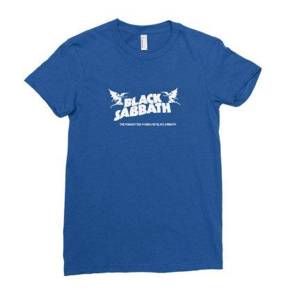 Forgoten Works Black Sabbath Ladies Fitted T-shirt Designed By Juna Wiliam