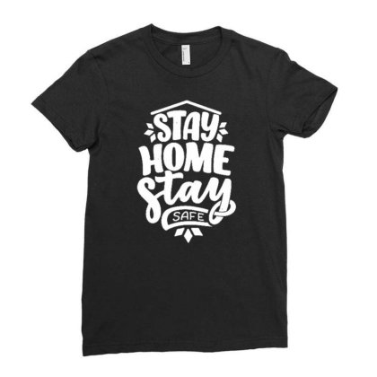 Stay Home 5 Ladies Fitted T-shirt Designed By Dulart