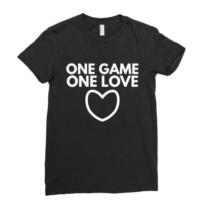 One Game One Love Ladies Fitted T-shirt Designed By Fahmifutri