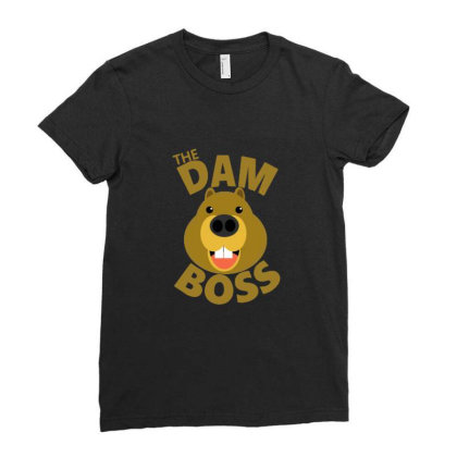 The Dam Boss Ladies Fitted T-shirt Designed By Blackstone