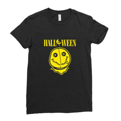 Halloween Spirit Ladies Fitted T-shirt Designed By Blackstone