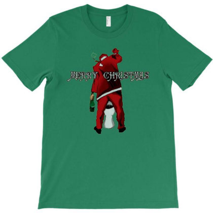 Merry Christmas Santa Pees T-shirt Designed By Madumangsa