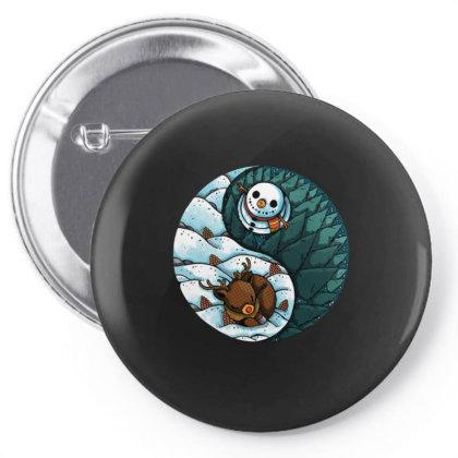 Ying Yang Winter Pin-back Button Designed By Koopshawneen