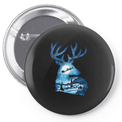 Christmas Reindeer Pin-back Button Designed By Koopshawneen