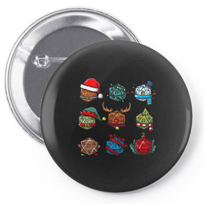 Christmas Dice Pin-back Button Designed By Koopshawneen