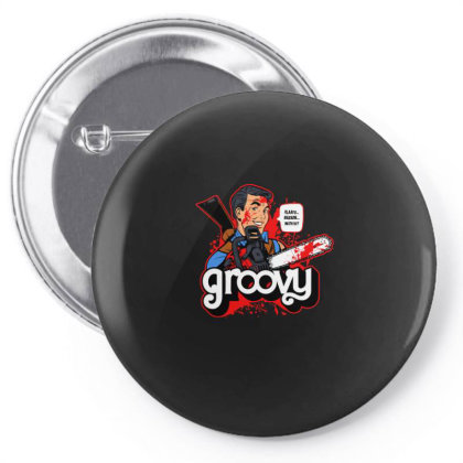 Groovy Pin-back Button Designed By Blackstone