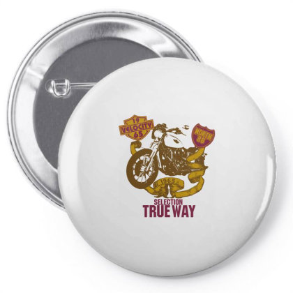 Selection True Way, Motorcycle Pin-back Button Designed By Estore
