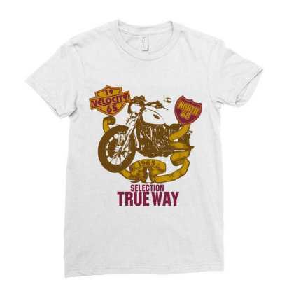 Selection True Way, Motorcycle Ladies Fitted T-shirt Designed By Estore