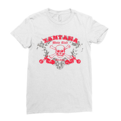 Skull, Motorcycle Ladies Fitted T-shirt Designed By Estore