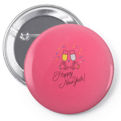 Happy New Year Pin-back Button Designed By Şen