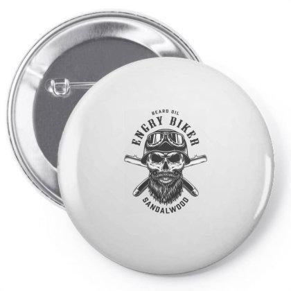 Beard Oil Energy Biker Sandalwood, Skull Pin-back Button Designed By Estore