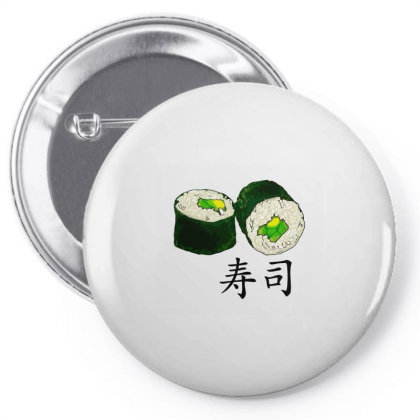 Avocado Sushi Love Classic T Shirt Pin-back Button Designed By Blackheart