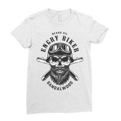 Beard Oil Energy Biker Sandalwood, Skull Ladies Fitted T-shirt Designed By Estore