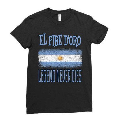 El Pibe De Oro Legend Never Dies Ladies Fitted T-shirt Designed By Qudkin