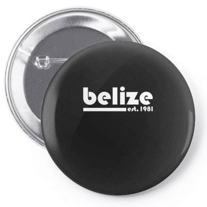 Belize, Est. 1981  T Shirt Pin-back Button Designed By Blackheart