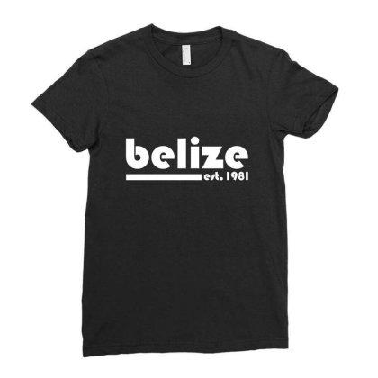 Belize, Est. 1981  T Shirt Ladies Fitted T-shirt Designed By Blackheart