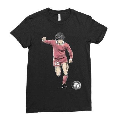 Diego Armando Maradona Franco Ladies Fitted T-shirt Designed By Coşkun