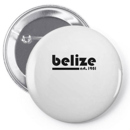 Belize, Est. 1981 Tri Blend T Shirt Pin-back Button Designed By Blackheart