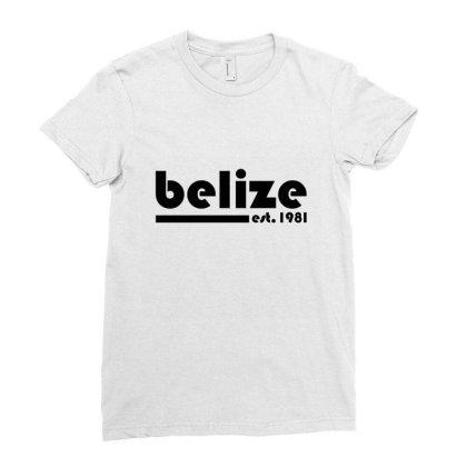 Belize, Est. 1981 Tri Blend T Shirt Ladies Fitted T-shirt Designed By Blackheart
