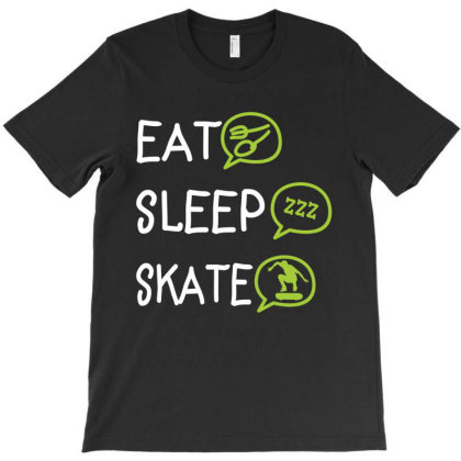 Eat Sleep Skate T-shirt Designed By Rardesign