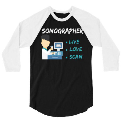 Sonographer 3/4 Sleeve Shirt Designed By Rardesign