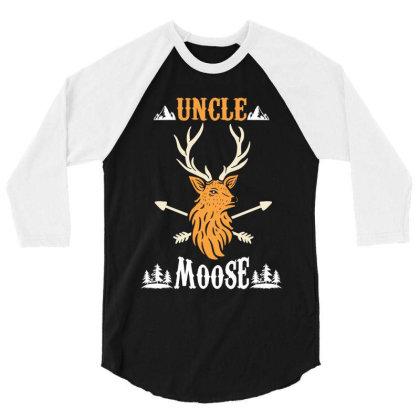 Uncle Moose 3/4 Sleeve Shirt Designed By Rardesign