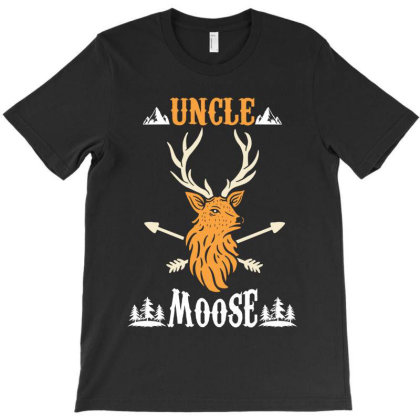 Uncle Moose T-shirt Designed By Rardesign