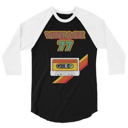 Vintage 77 3/4 Sleeve Shirt Designed By Zig Street