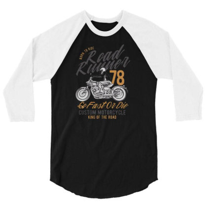 Motorcycle American Car 3/4 Sleeve Shirt Designed By Zig Street