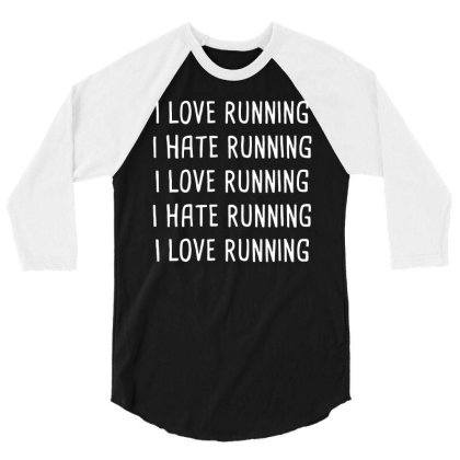 Love Hate Running 3/4 Sleeve Shirt Designed By Lyly