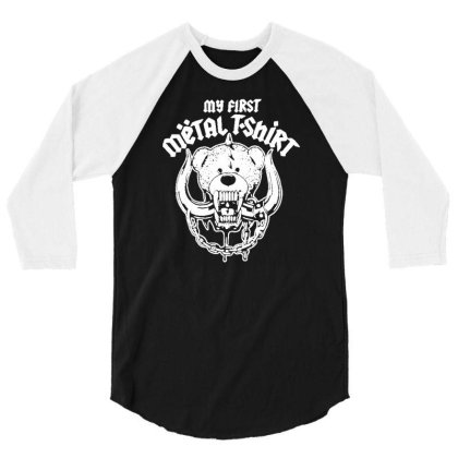 My First Metal 3/4 Sleeve Shirt Designed By Lyly