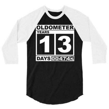 Oldometer Years 13 White 3/4 Sleeve Shirt Designed By Lyly