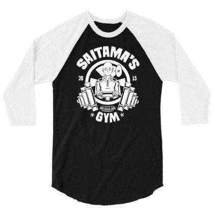 One Punch Man Saitama Gym 3/4 Sleeve Shirt Designed By Lyly