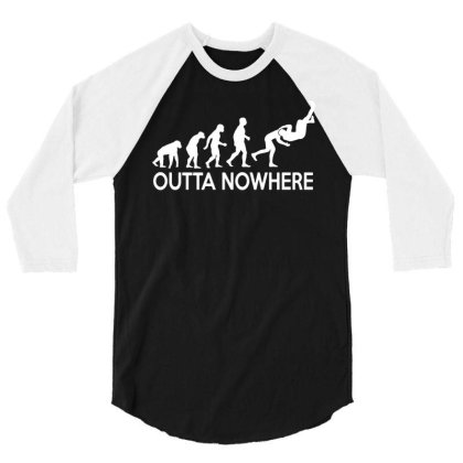 Outta Nowhere 3/4 Sleeve Shirt Designed By Lyly