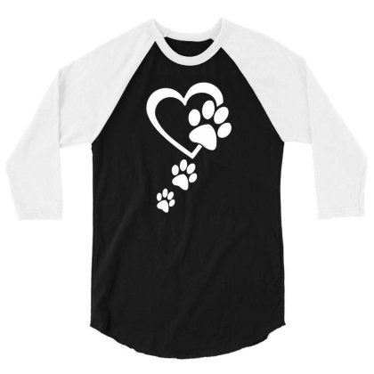 Paw Print 3/4 Sleeve Shirt Designed By Lyly