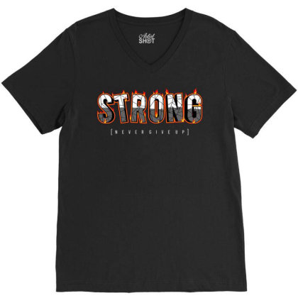 Strong 4 V-neck Tee Designed By Dulart