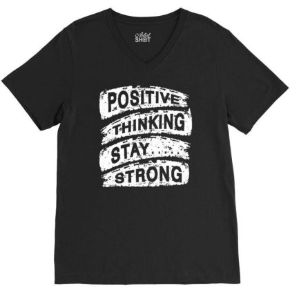 Strong 3 V-neck Tee Designed By Dulart