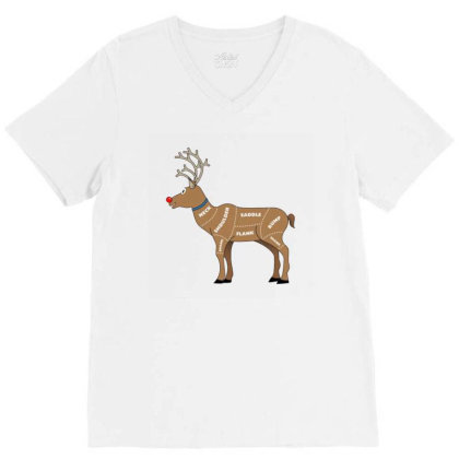 Reindeer Meat V-neck Tee Designed By Papipupepo