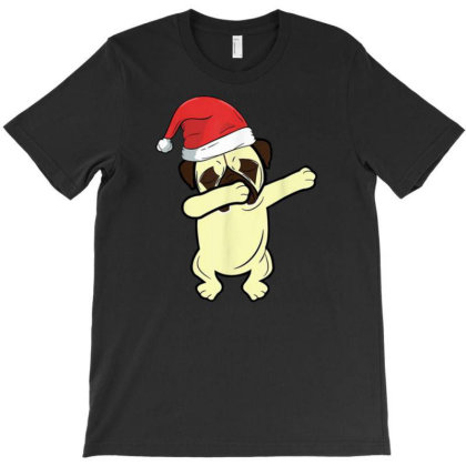 Funny Christmas Dabbing Pug T-shirt Designed By Bernstinekelly