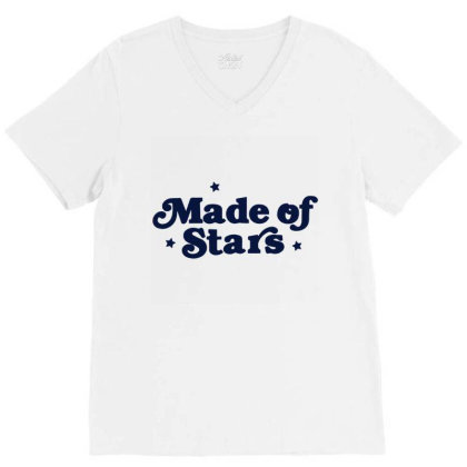 Made Of Star V-neck Tee Designed By Bernstinekelly