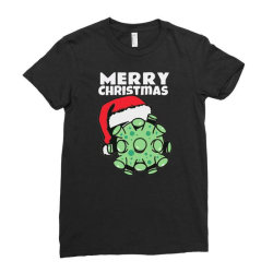 Merry Christmas Corr Roo Na Ladies Fitted T-shirt Designed By Bernstinekelly