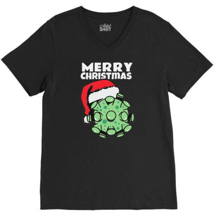 Merry Christmas Corr Roo Na V-neck Tee Designed By Bernstinekelly