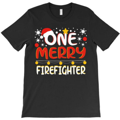 One Merry Firefighter T-shirt Designed By Bernstinekelly